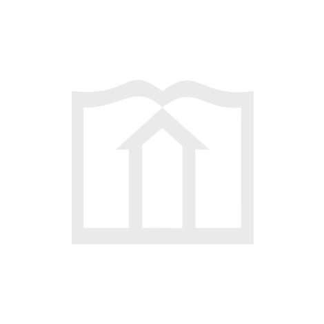 Kerze Streifen - blau-türkis