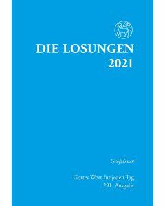 Losungen 2021 hellblau, Großdruck