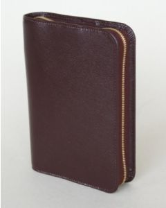 Bibelhülle Rindleder 13x9,5x3,8 - weinrot