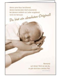 Faltkarte: Du bist ein absolutes Original - Geburt