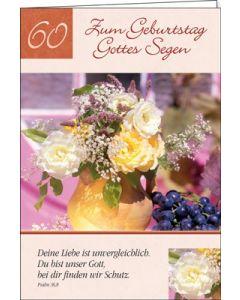 Faltkarte: Zum 60. Geburtstag Gottes Segen - Geburtstag