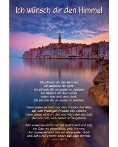 Faltkarte: Ich wünsch dir den Himmel - Konfirmation
