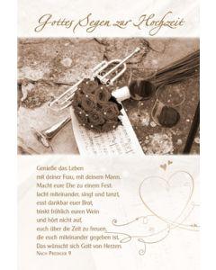 Faltkarte: Gottes Segen zur Hochzeit - Hochzeit