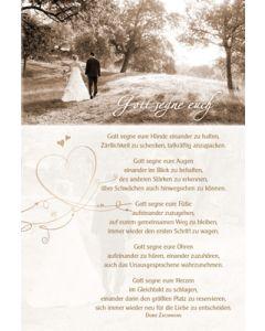 Faltkarte: Gott segne euch - Hochzeit