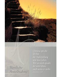 Faltkarte: Christus spricht: Ich bin die Auferstehung - Trauer