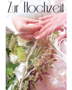 Zur Hochzeit - Faltkarte (Motiv Ring)