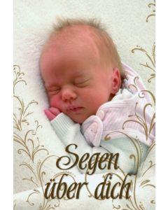 Segen über dich - Faltkarte (Motiv Baby)