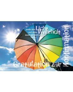 Faltkarte: Sende dein Licht - Konfirmation