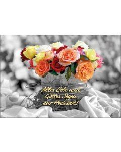 Faltkarte: Alles Liebe und Gottes Segen zur Hochzeit