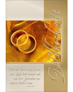 Faltkarte: Denn der Herr ist gut - Hochzeit