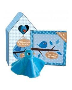Willkommen im Leben - Geschenkset blau