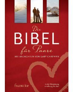 ARTIKELNUMMER: 331436000  ISBN/EAN: 9783868274363 Die Bibel für Paare Mit Andachten von Gary Chapman Gary Chapman CB-Buchshop Cover