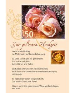 Faltkarte: Heute ist ein Festtag - Gold. Hochzeit