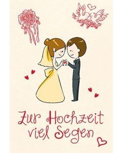 Faltkarte: Möget ihr die Farben des Lebens entdecken - Hochzeit