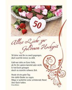 Faltkarte: 50 Jahre seid Ihr zu zweit gegangen - Goldene Hochzeit