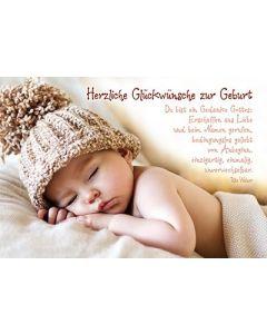 Faltkarte: Du bist ein Gedanke Gottes - Geburt