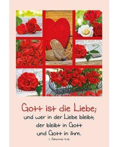 Faltkarte: Gott ist die Liebe - Hochzeit
