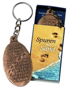 Schlüsselanhänger Spuren im Sand
