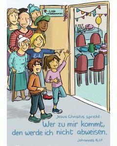 Jahreslosung 2022 - Kinder-Edition Postkarten 10 Stk. - ohne Stundenentwurf, Joy Katzmarzik, Jörg Bartoß