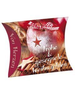 """Schafmilchseife Herz """"Frohe & gesegnete Weihnachten"""""""