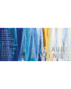"Kunstpostkarten-Set Motiv ""Glaube singt"" - 12Stk."