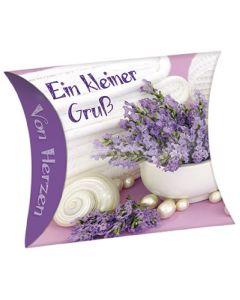 """Schafmilchseife Herz """"Ein kleiner Gruß"""" (Lavendel)"""
