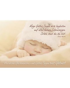 Faltkarte: Möge Gottes Segen - Geburt