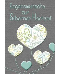 Faltkarte: Segenswünsche ... - Silberne Hochzeit