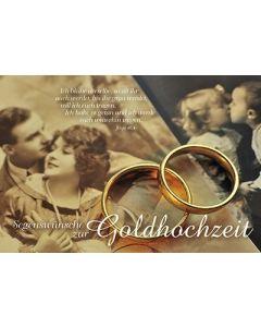 Faltkarte: Segenswünsche zur Goldhochzeit