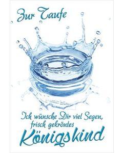Faltkarte: Zur Taufe