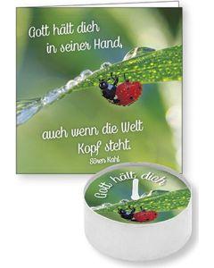 """Lichtgruß """"Gott hält dich in seiner Hand"""""""