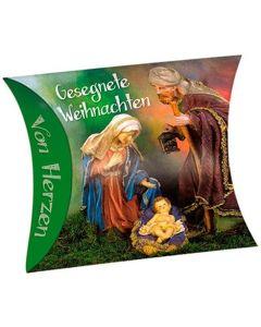 """Schafmilchseife Herz """"Gesegnete Weihnachten"""" (Jesuskind)"""
