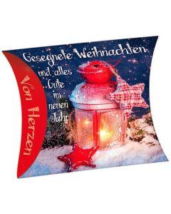 """Schafmilchseife Herz """"Gesegnete Weihnachten"""" (Laterne)"""
