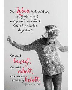 Postkarten: Das Leben lacht mich an, 12 Stück
