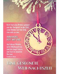 Faltkarte: Eine gesegnete Weihnachtszeit - Weihnachten
