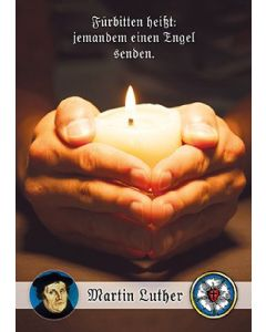 Postkarten: Fürbitten heißt: - 12 Stück (Kerze)