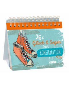 26x Glück und Segen zur Konfirmation - Tischaufsteller