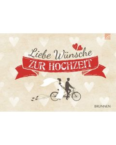 Liebe Wünsche zur Hochzeit - Gutscheinbuch