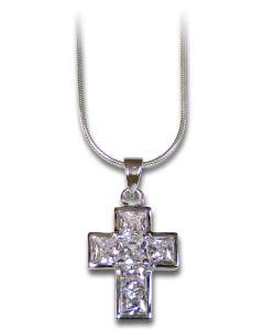 """Halskette mit Anhänger """"Kreuz"""" Zirkonia"""