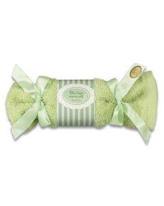 Waschhandschuh mit Schafsmilchseife - grün