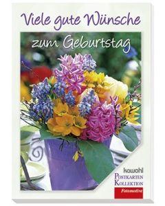Postkartenbuch: Viele gute Wünsche zum Geburtstag