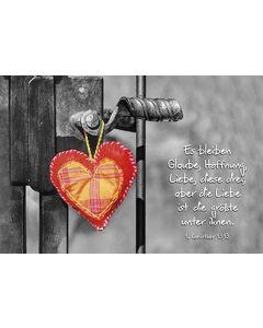 Faltkarte: Es bleiben Glaube, Hoffnung, Liebe - Hochzeit