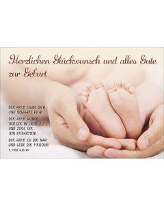 Faltkarte: Herzlichen Glückwunsch - Geburt