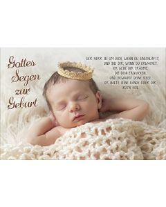 Faltkarte: Gottes Segen zur Geburt