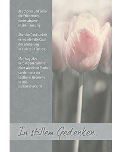 Faltkarte: Je schöner - Trauer