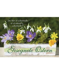 Faltkarte: Gesegnete Ostern