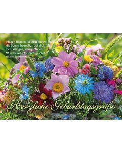 Postkarten: Herzliche Geburtstagsgrüße, 4 Stück