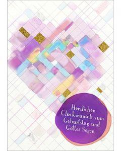 Postkarten: Herzlichen Glückwunsch zum Geburtstag, 4 Stück