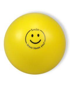 "Softball ""Smile - Jesus loves you!"" - gelb"