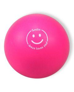 "Softball ""Smile - Jesus loves you!"" - pink"